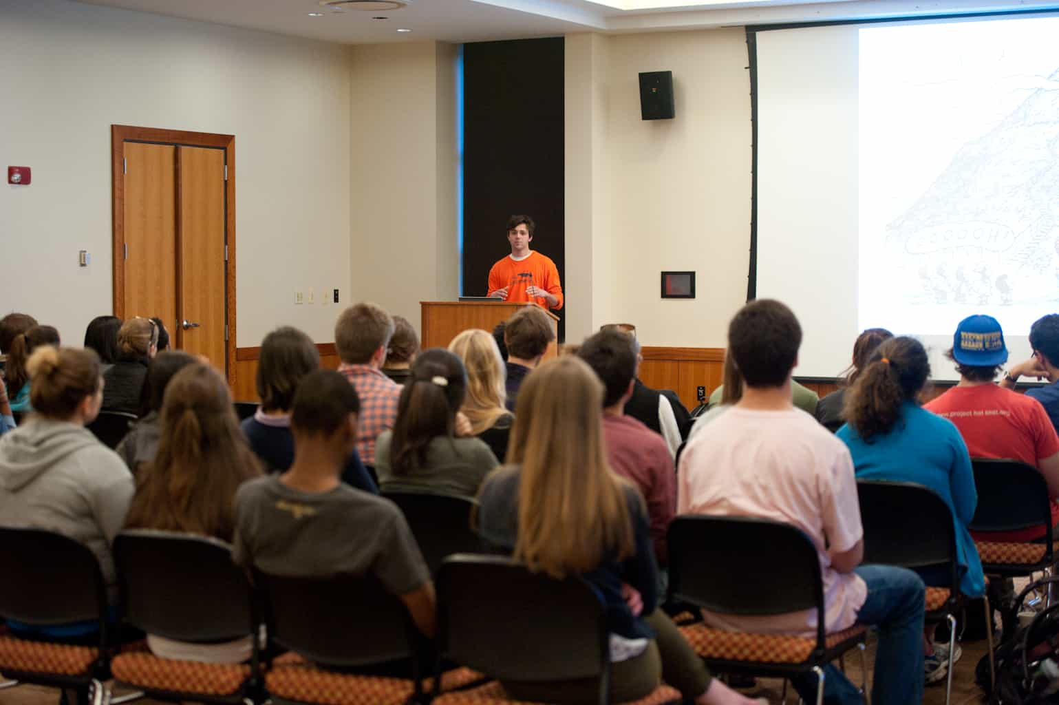Undergrads at Boston College listen to  Bootstrap's take on social entrepreneurship